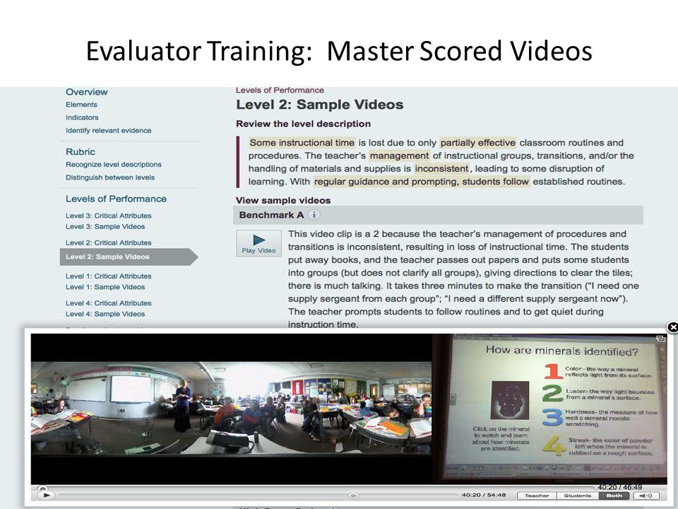 Evaluator Training: Master Scored Videos 8