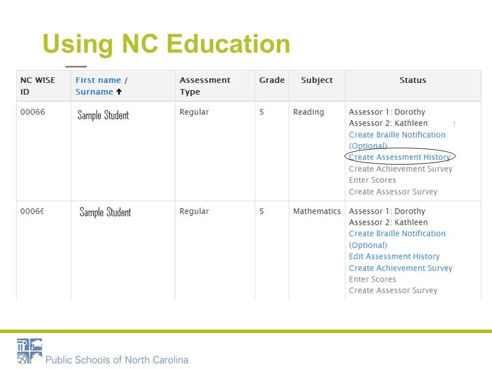Using NC Education