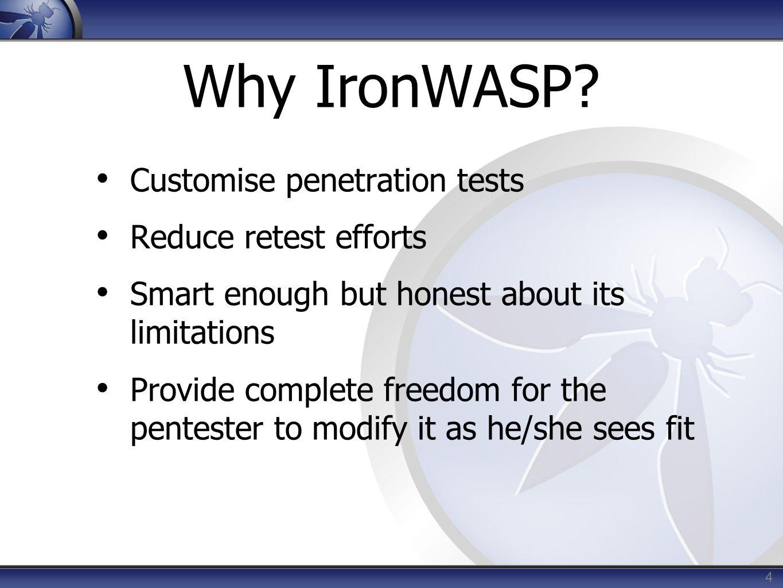 Why IronWASP.