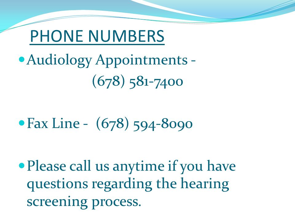 HEARING SCREENING TRAINING AUDIOLOGISTS  Dr.Karen Mobley  Dr.