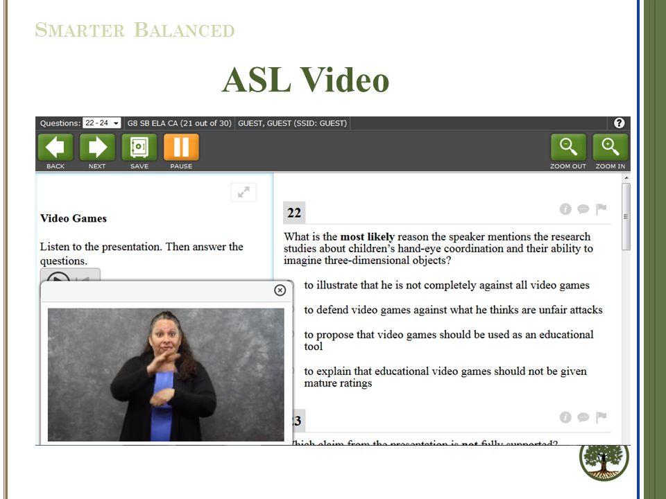 ASL Video S MARTER B ALANCED
