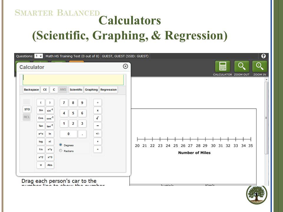 Calculators (Scientific, Graphing, & Regression) S MARTER B ALANCED