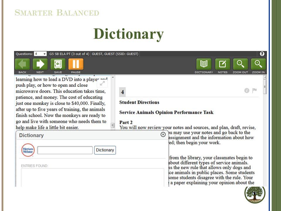 Dictionary S MARTER B ALANCED