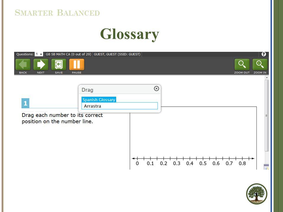Glossary S MARTER B ALANCED