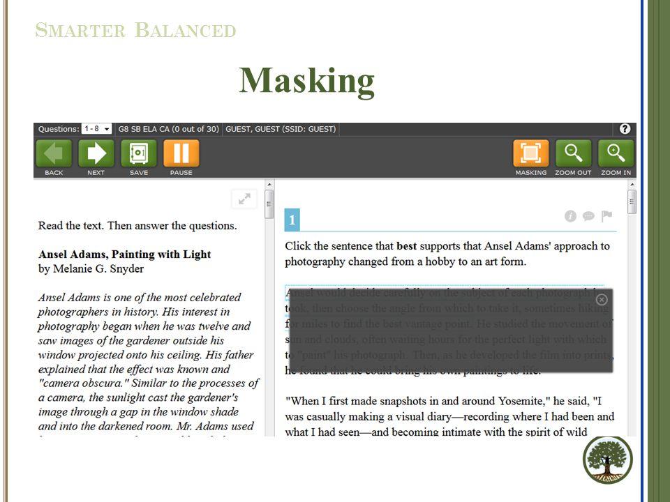 Masking S MARTER B ALANCED