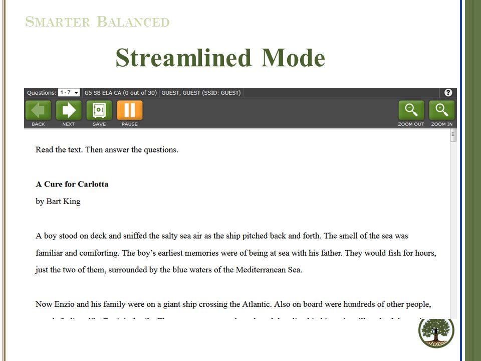 Streamlined Mode S MARTER B ALANCED