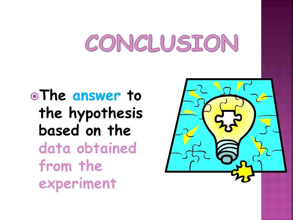 The answer to the hypothesis based on the data obtained from the experiment
