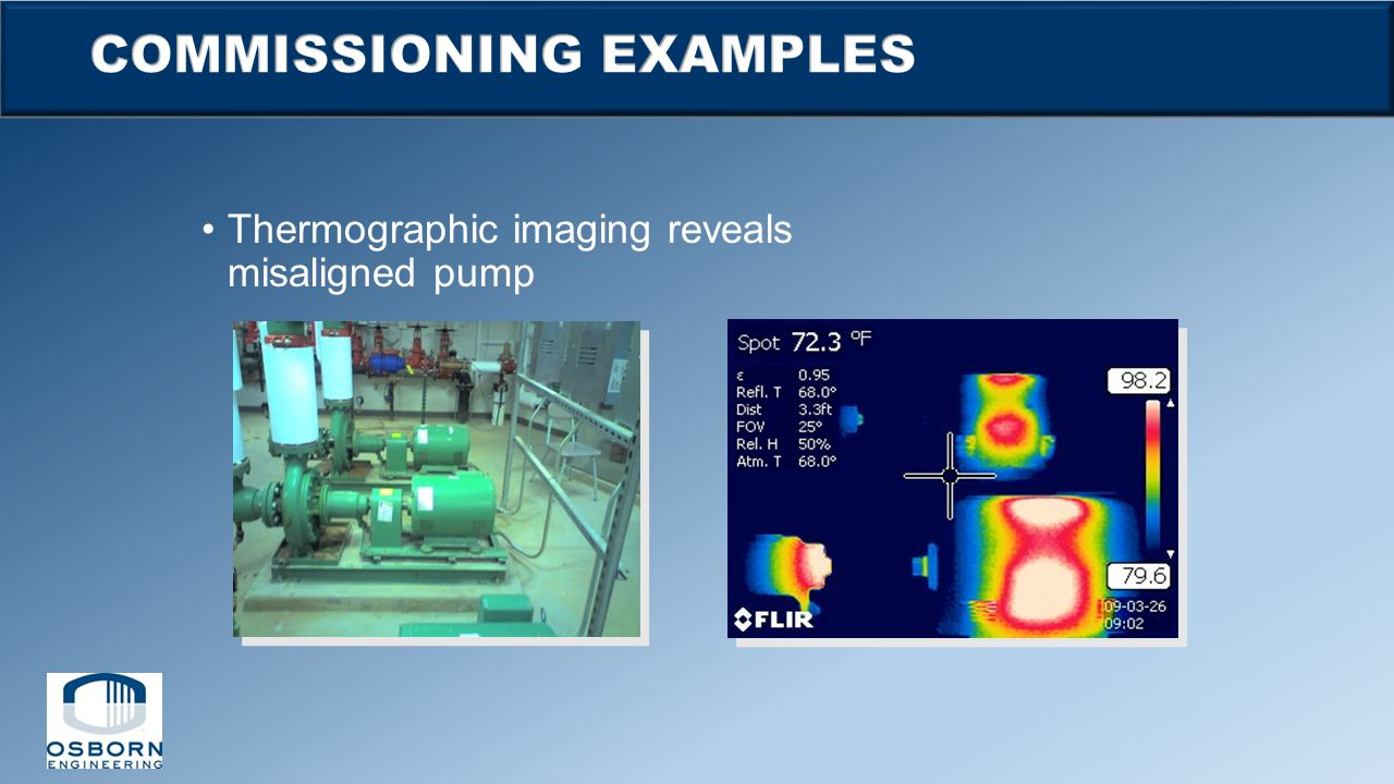 Thermographic imaging reveals misaligned pump