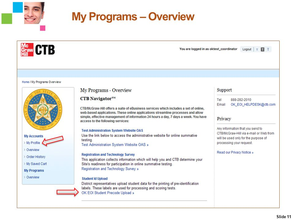 My Programs – Overview Slide 11 My Programs Overview