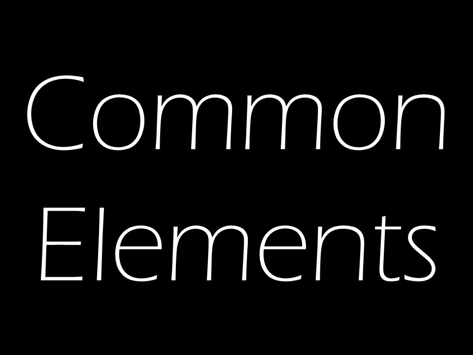 Common Elements