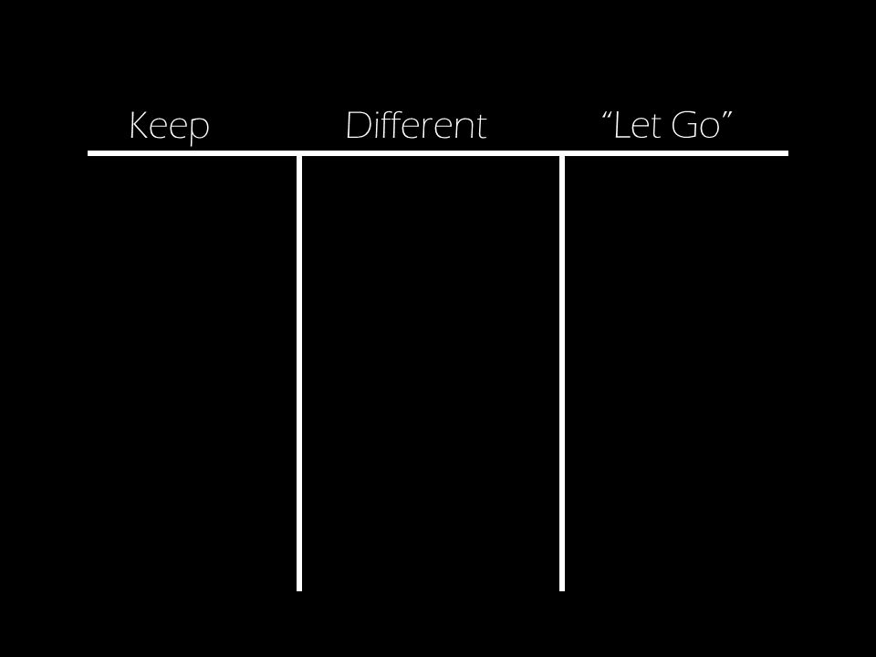 Different Let Go Keep