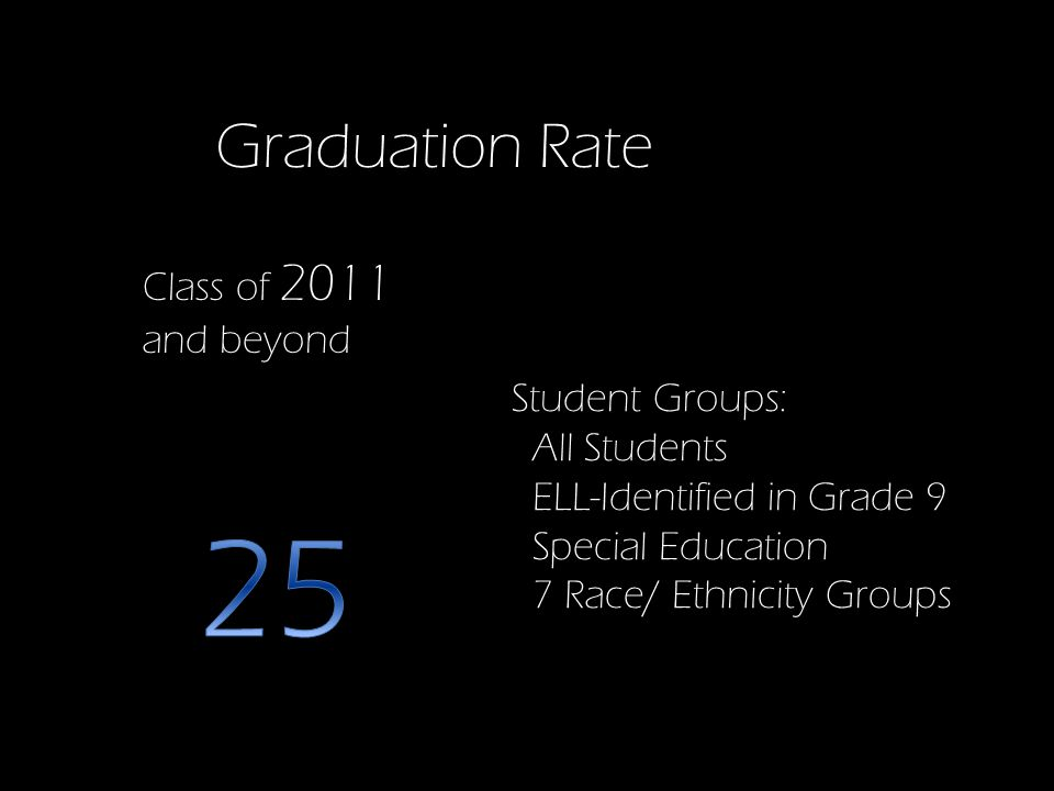 Class of 2011 and beyond Student Groups: All Students ELL-Identified in Grade 9 Special Education 7 Race/ Ethnicity Groups Graduation Rate