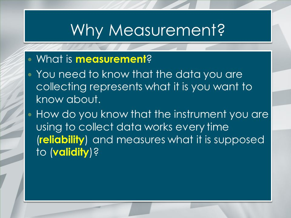 Scales of Measurement Measurement is the assignment of values to outcomes following a set of rules There are four types of measurement scales Nominal Ordinal Interval Ratio Measurement is the assignment of values to outcomes following a set of rules There are four types of measurement scales Nominal Ordinal Interval Ratio