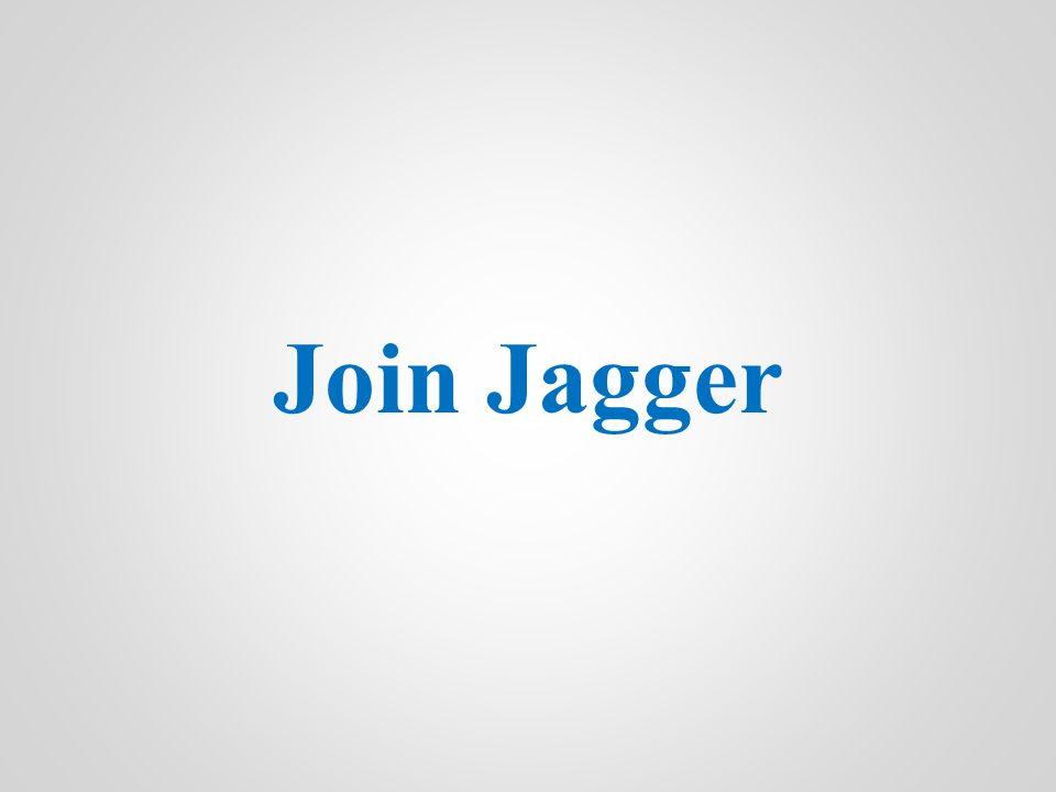 Join Jagger