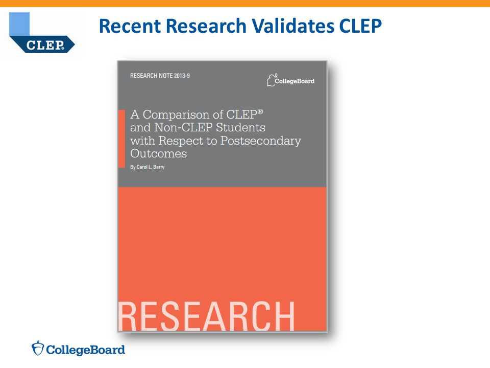 Recent Research Validates CLEP