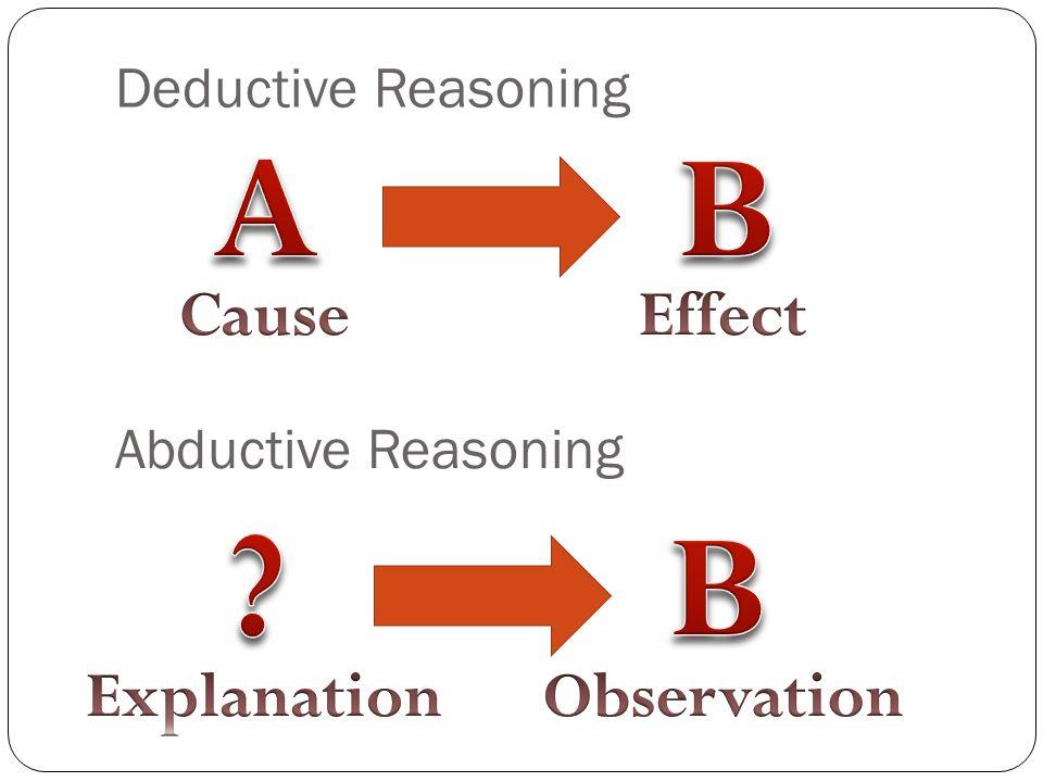 Deductive Reasoning Abductive Reasoning