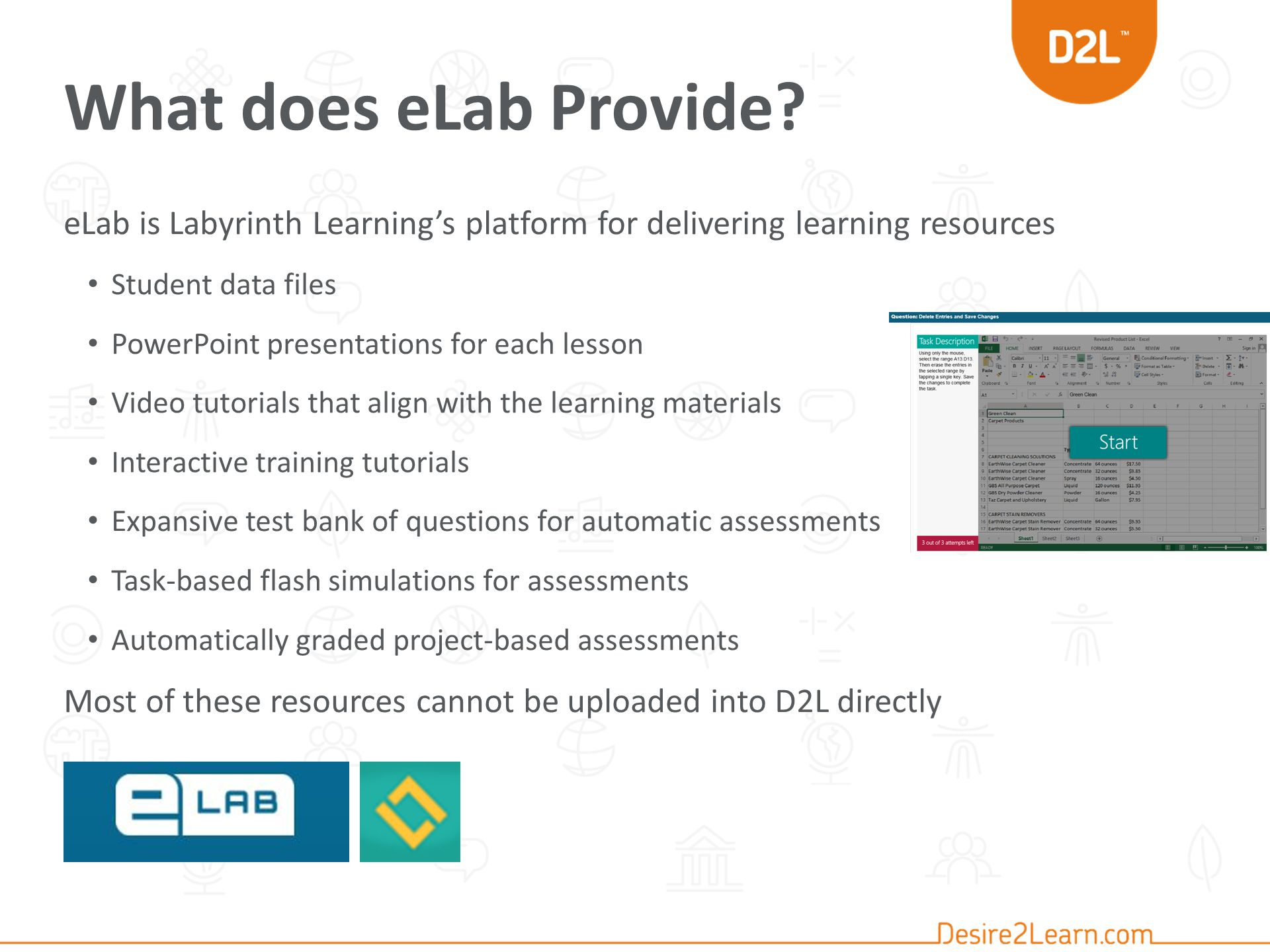 What does eLab Provide.
