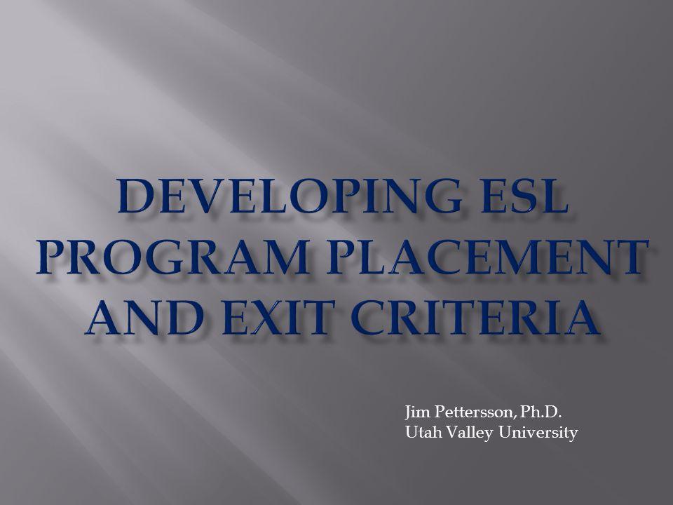 Jim Pettersson, Ph.D. Utah Valley University
