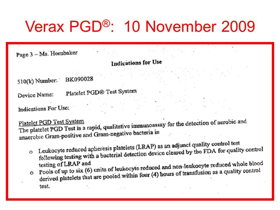 Verax PGD ® : 10 November 2009