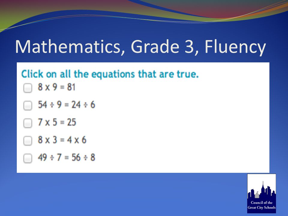 Mathematics, Grade 3, Fluency