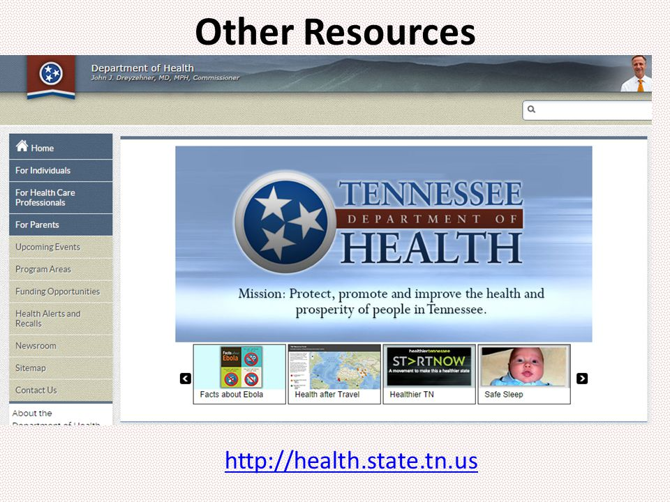 http://health.state.tn.us Other Resources