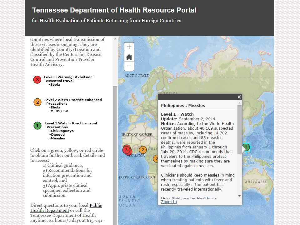 Ebola Update Marion Kainer MD MPH Tennessee Department of Health Sept 8, 2014