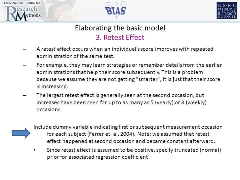 Elaborating the basic model 3.