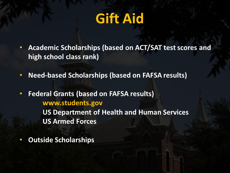 Special Circumstances Financial situations not reported on the FAFSA.