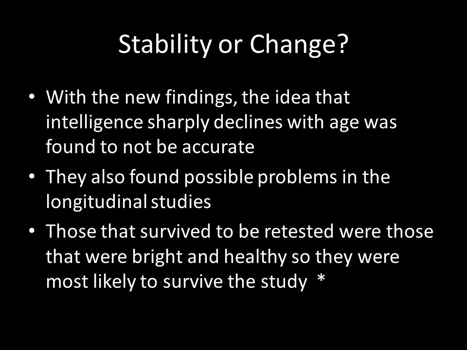 Stability or Change.
