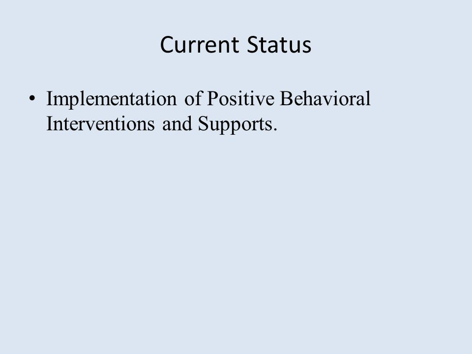 Schools using PBIS February, 2015 20,384 20% of all Schools in US