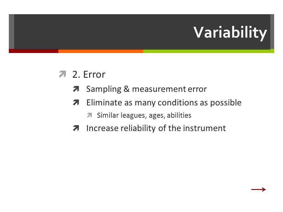 Variability  2.