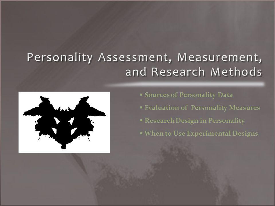 Self-Report Data (S-Data) Observer-Report Data (O-Data) Test-Data (T-Data) Life-Outcome Data (L-Data)
