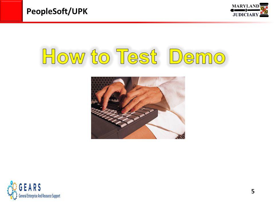 5 PeopleSoft/UPK 5