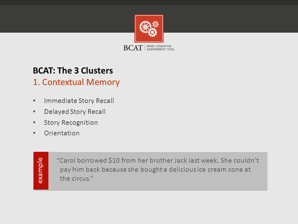 BCAT: The 3 Clusters 1.