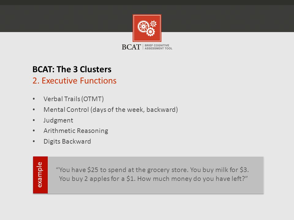 BCAT: The 3 Clusters 2.