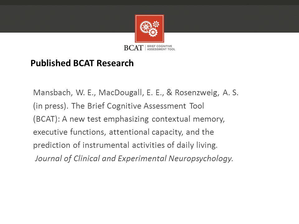 Mansbach, W. E., MacDougall, E. E., & Rosenzweig, A.