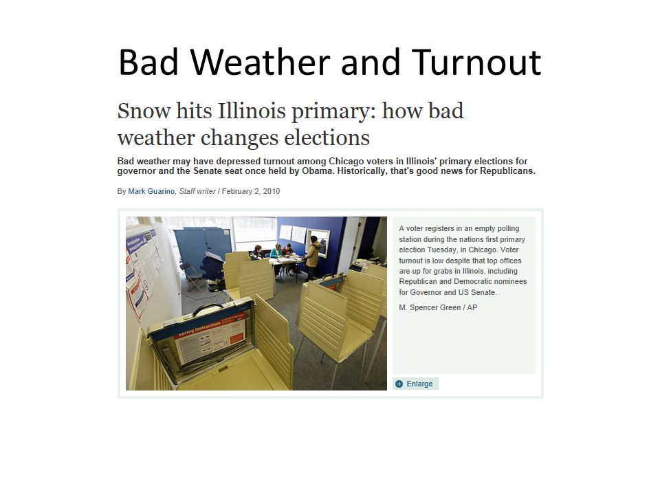 Bad Weather and Turnout