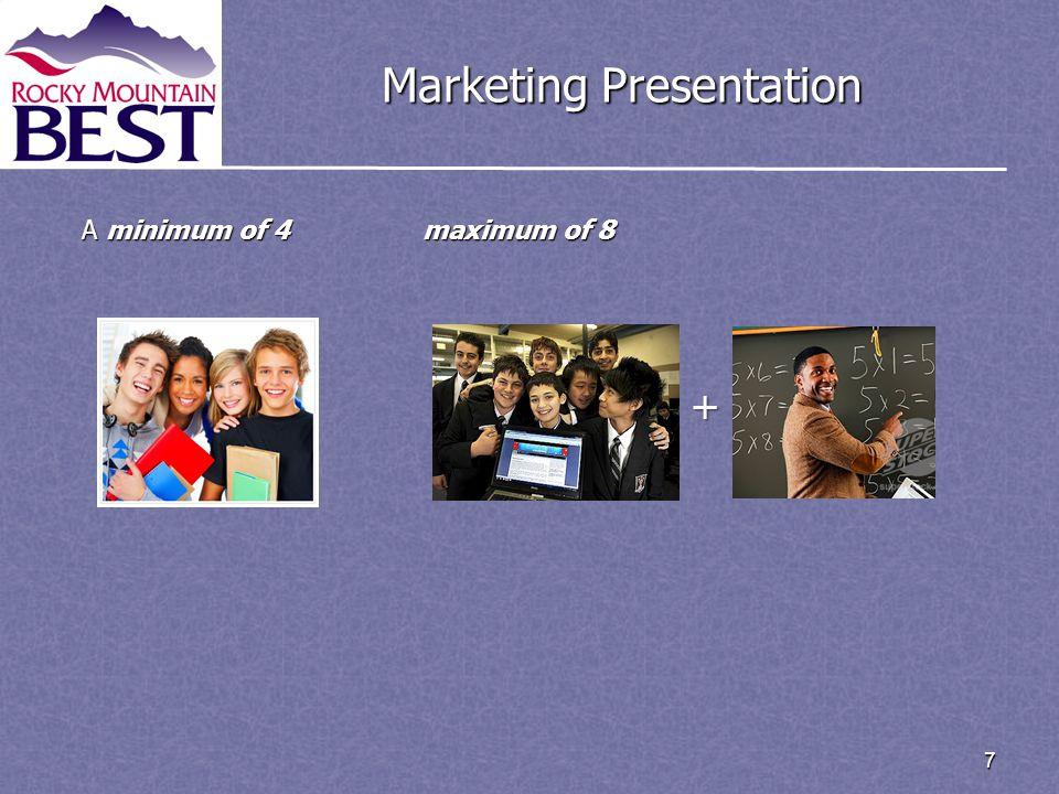 7 Marketing Presentation A minimum of 4 maximum of 8 +