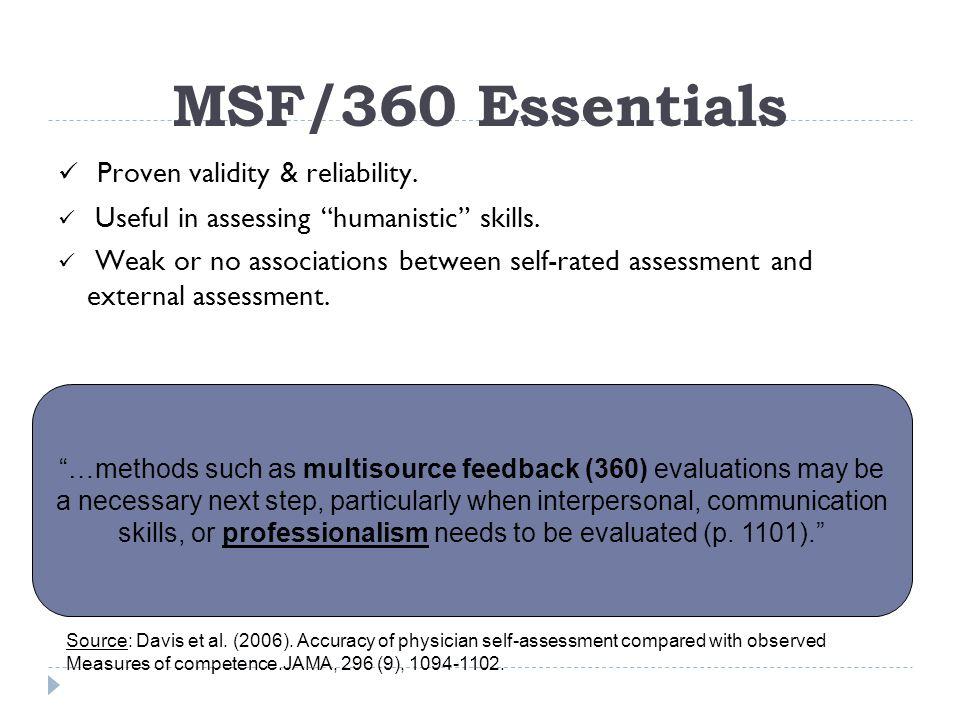 Key Players in MSF/360 Target Individual Raters Boss FacilitatorVendor