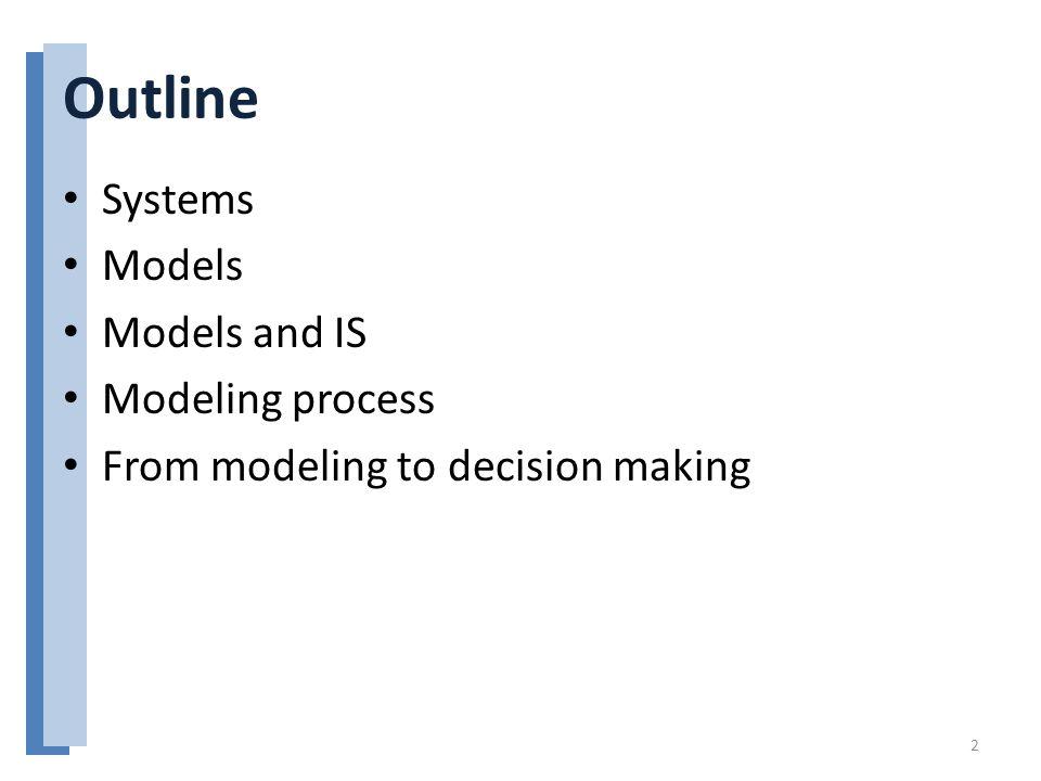 Models Basic characteristics of business quantitative models: – Decision variables (what management controls).
