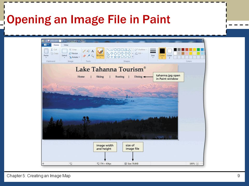 Chapter 5: Creating an Image Map20 Creating an Image Map