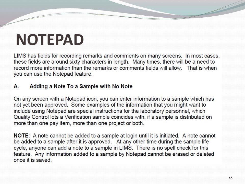NOTEPAD 30