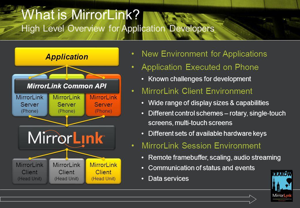 What is MirrorLink.