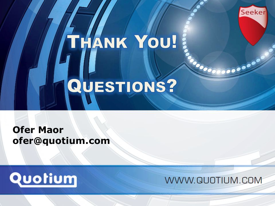 HVC2012 | 8-Nov-12 Application Performance Monitoring Ofer Maor ofer@quotium.com