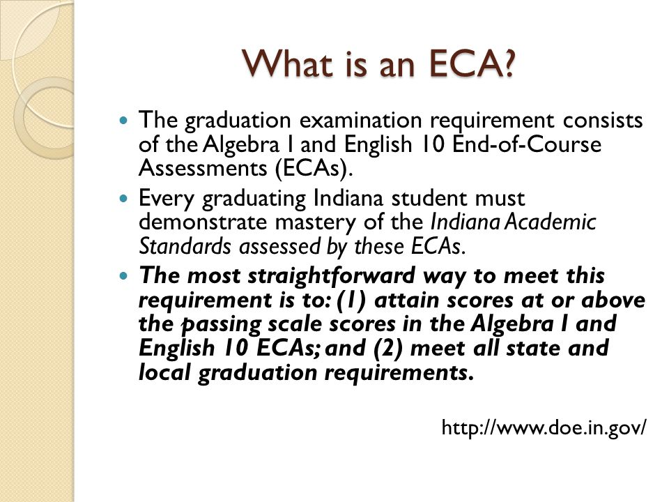 What is an ECA.