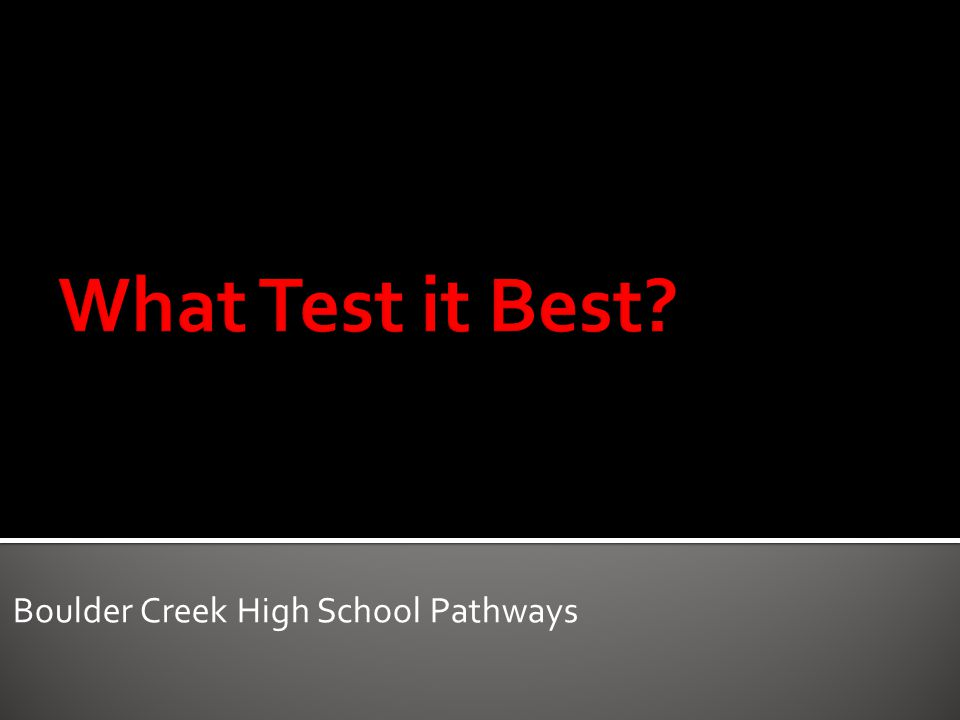 Boulder Creek High School Pathways