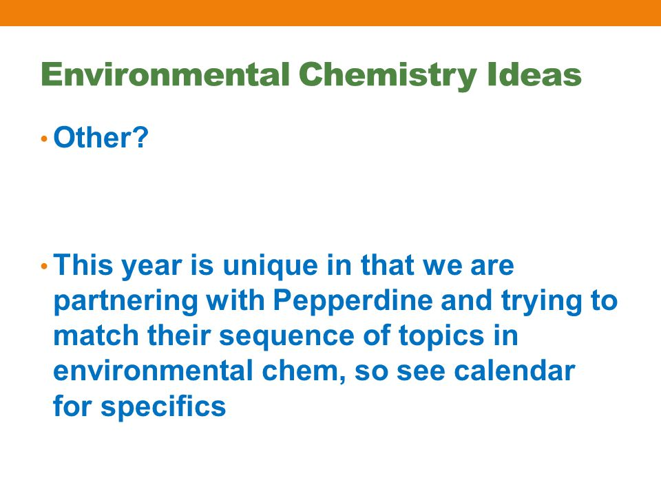 Environmental Chemistry Ideas Other.