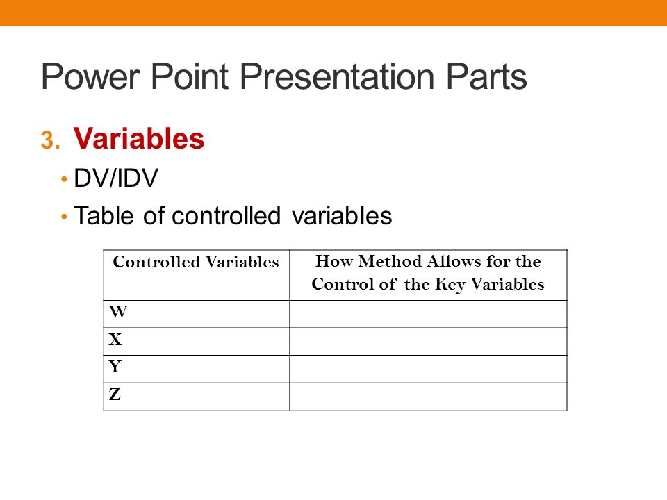 Power Point Presentation Parts 3.