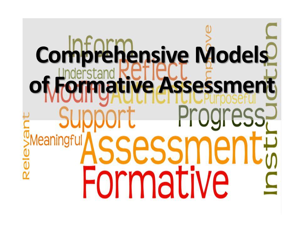 Comprehensive Models of Formative Assessment