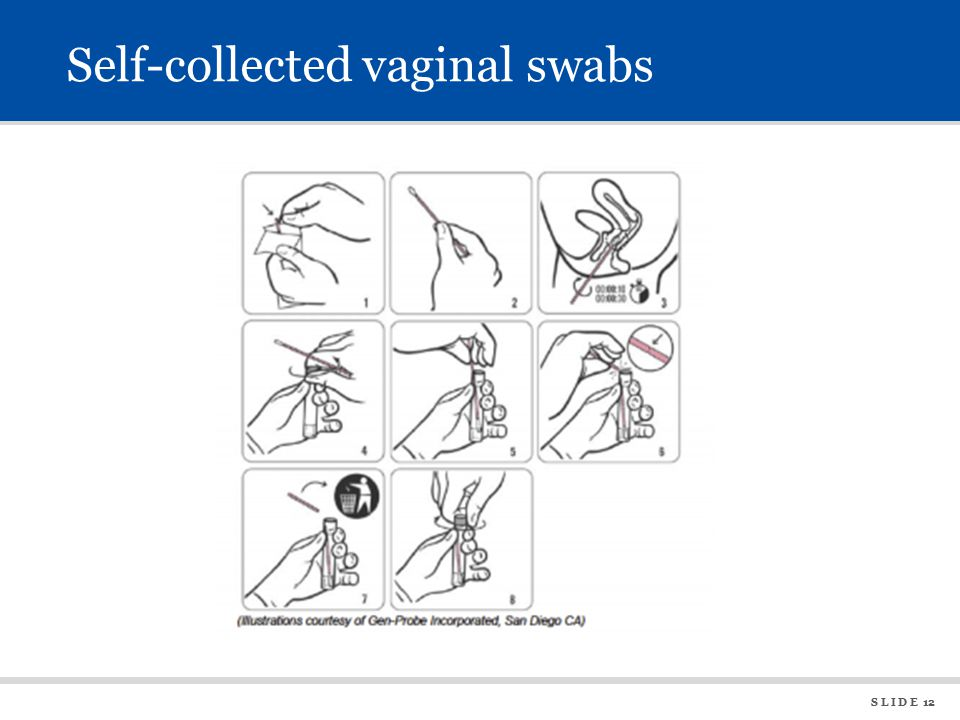 S L I D E 12 Self-collected vaginal swabs